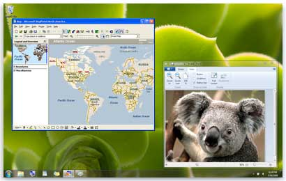 Programs can run in both Windows XP Mode and in Windows 7.