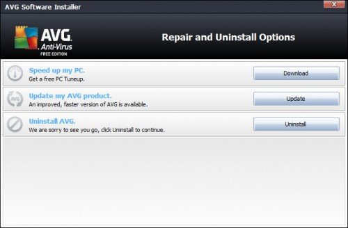 Select Uninstall to continue