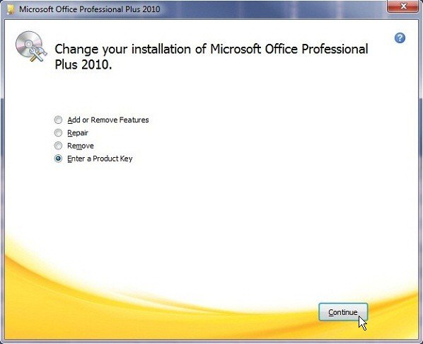 produk key microsoft office professional plus 2010