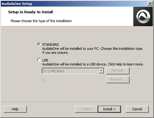 AudialsOne 8 install
