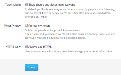 """Select """"Always use HTTPS"""""""