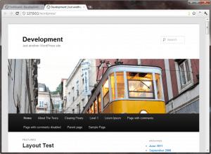 WordPress 3.2 Twenty Eleven Theme