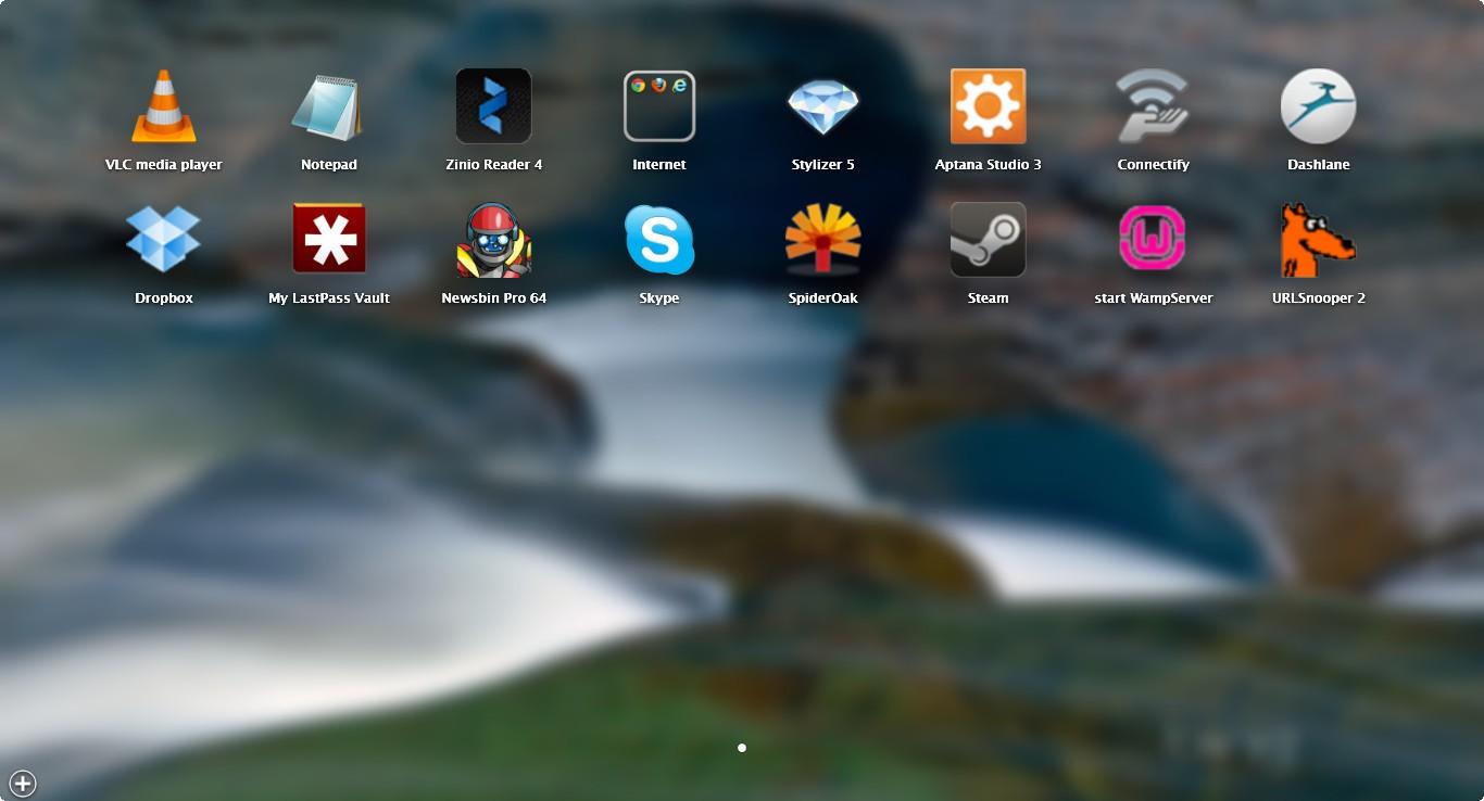 WinLaunch OS X Launchpad Like Application Launcer For Windows