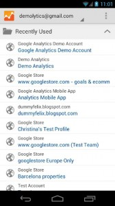 google-analytics-for-android-account-overview