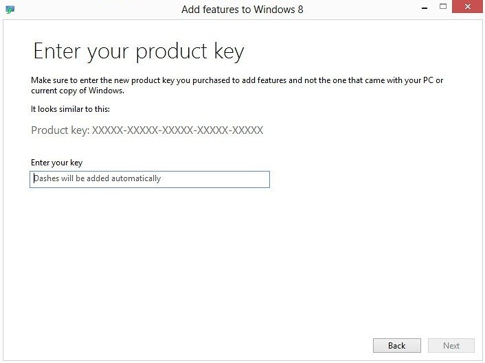 windows 8 add features