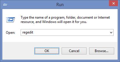 Open Windows Registry Editor