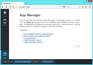 about:app-manager page