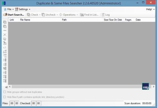 duplicate and same file searcher