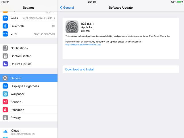 iOS 8 1 1 Update Details, IPSW Firmware File Download Links