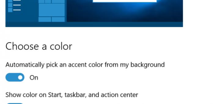 Windows 10: Change window tile color