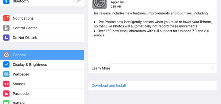 Apple iOS 9.1 Update