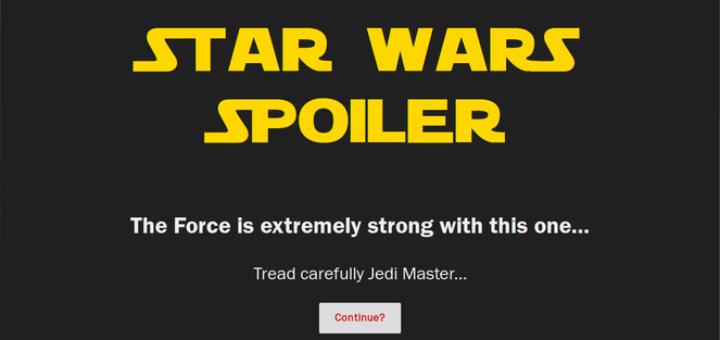Spoiler Jedi Firefox Add-on