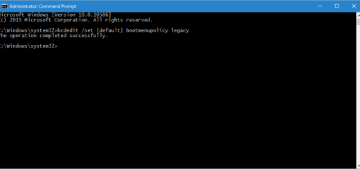 Enable F8 Safe Mode Classic Boot Loader In Windows 10